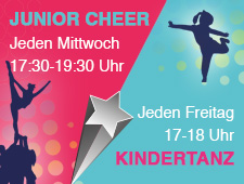 NEU !   Junior Cheer Team und Kindertanz
