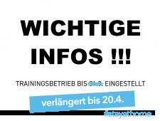 Trainingsbetrieb bis 20.4. eingestellt !!!