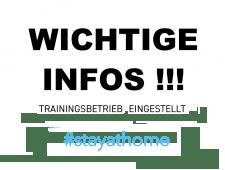 Trainingsbetrieb eingestellt !!!